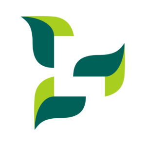 LBLOI medical logo design with negative space