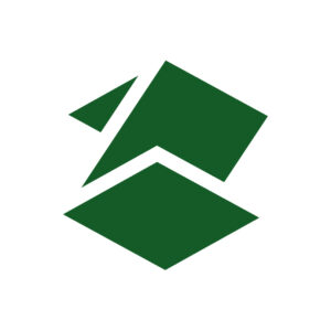 Zawalski Construction logo design with negative space