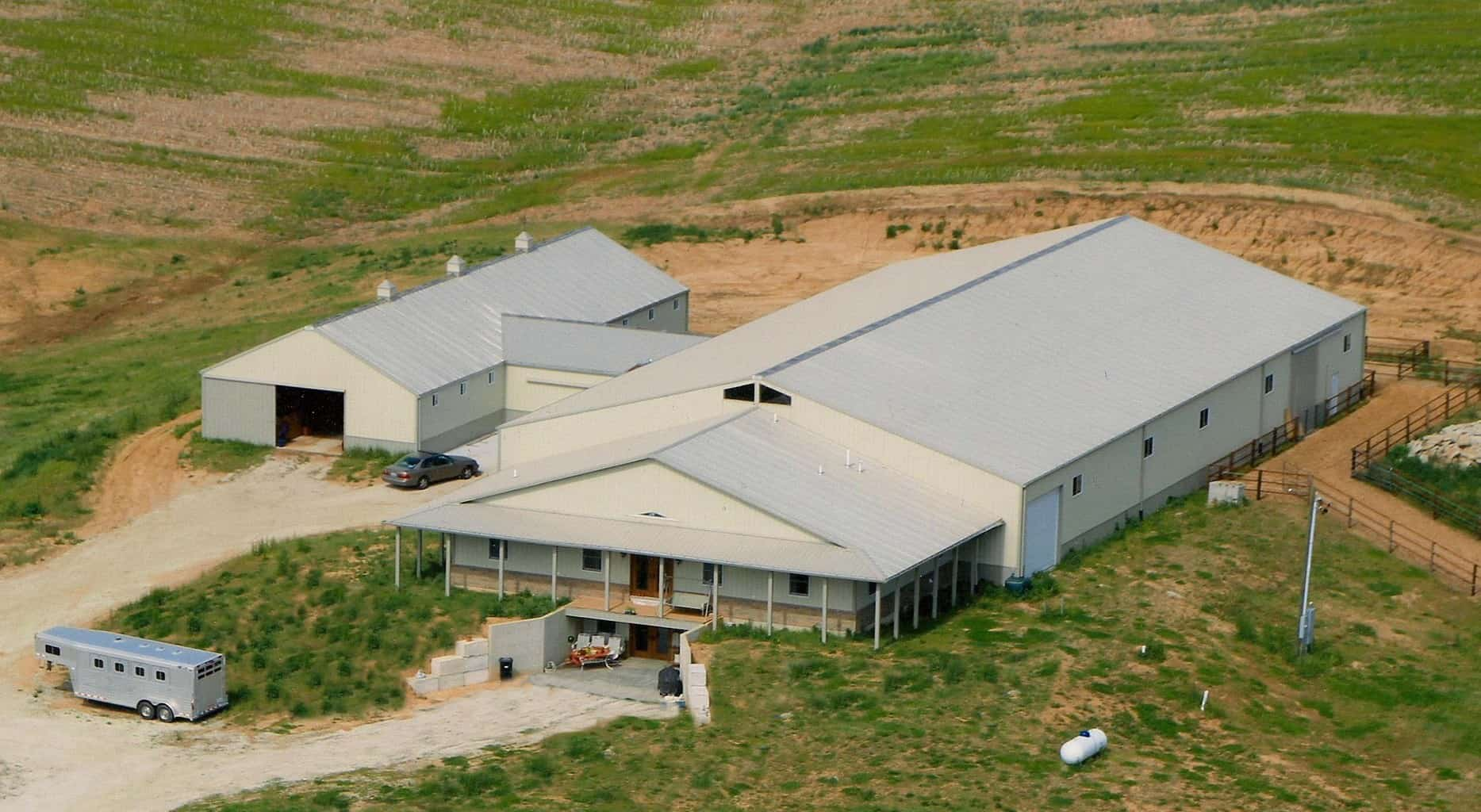 Horse barns in Iowa and Illinois by Greiner Buildings