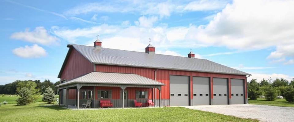 custom machine shed farm building by greiner buildings