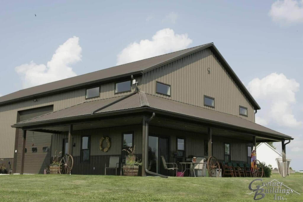 Shome Shop Home Barn Home built by Greiner Buildings