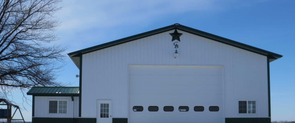 large white insulated workshop building