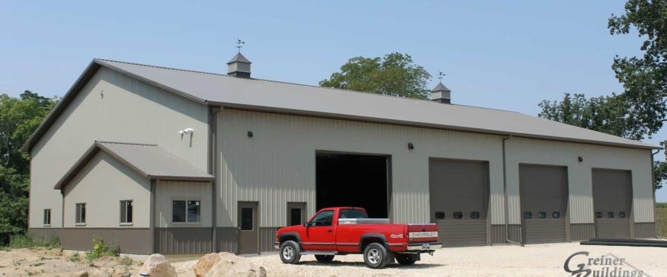 insulated pole barn farm shop