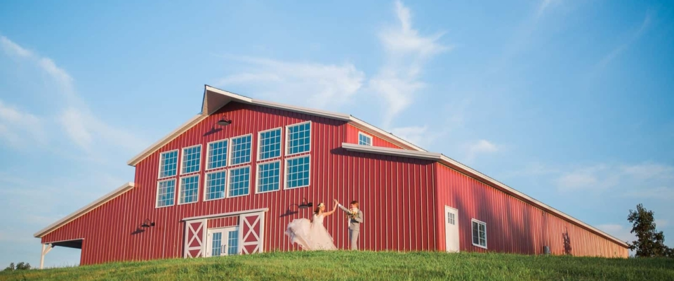 red wedding barn post frame building greiner buildings