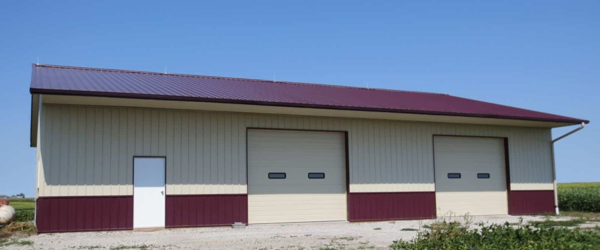 metal pole barn building greiner