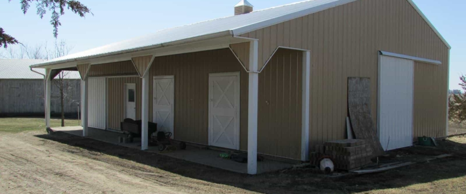 rose gold pole barn storage building residential