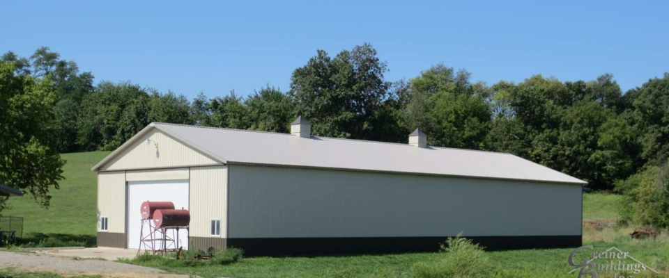 long pole barn building