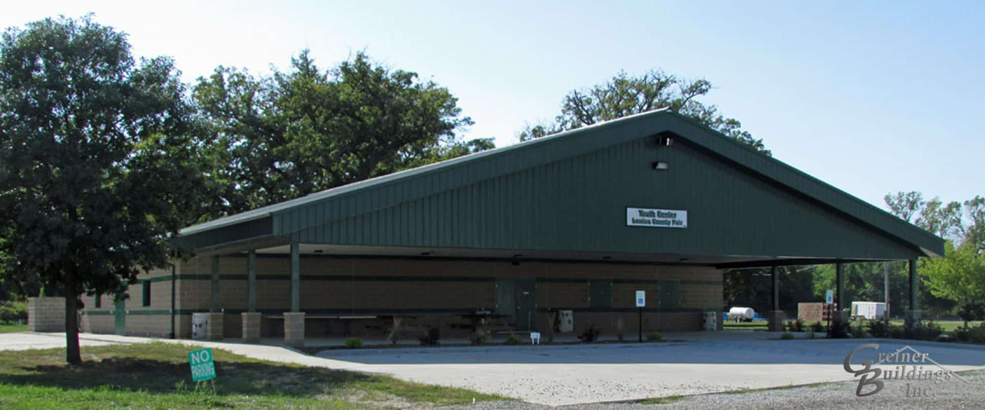 metal community center park pavilion