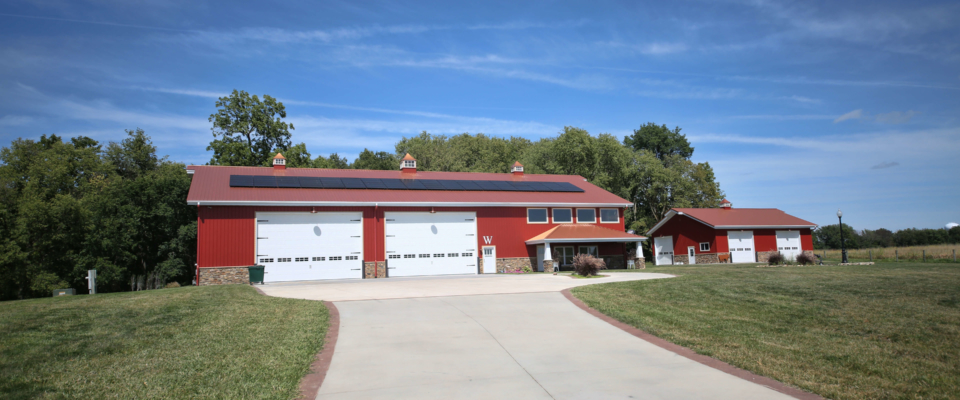 red pole barn home inside and outside gallery