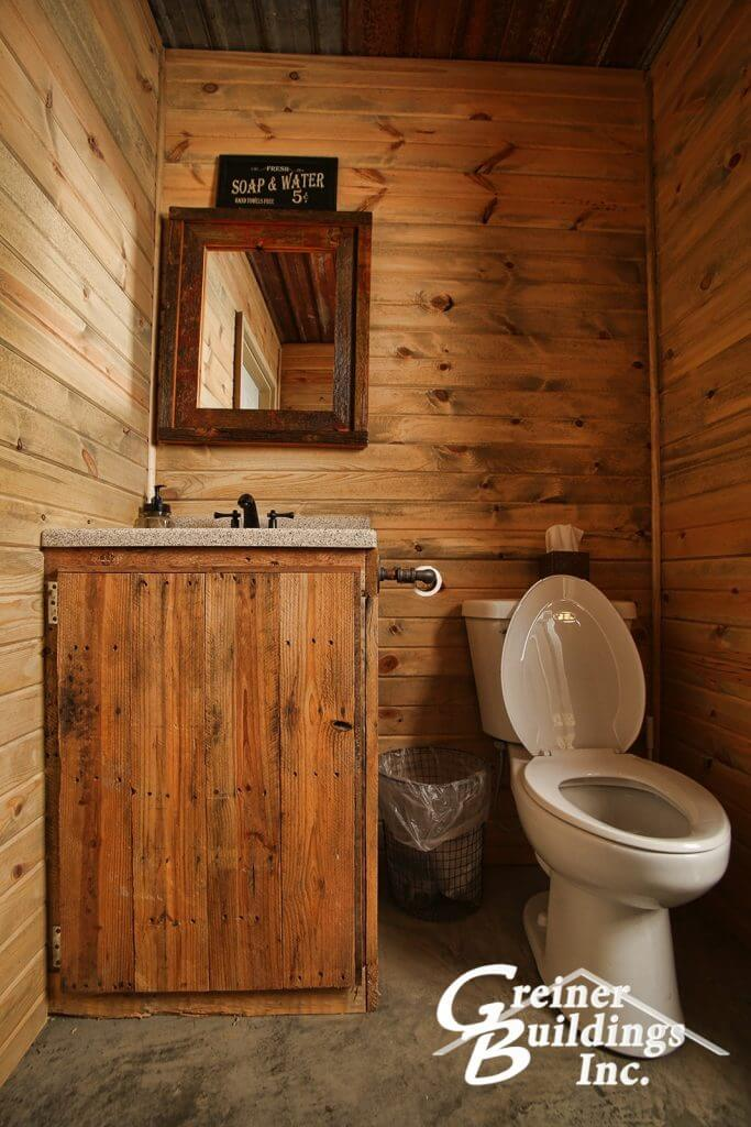 Bathroom in the man cave