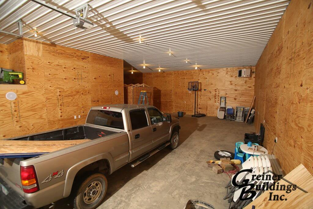 Shop Machine Shed Shome Man Cave Entry Wellman Kalona, Iowa built by Greiner Buildings