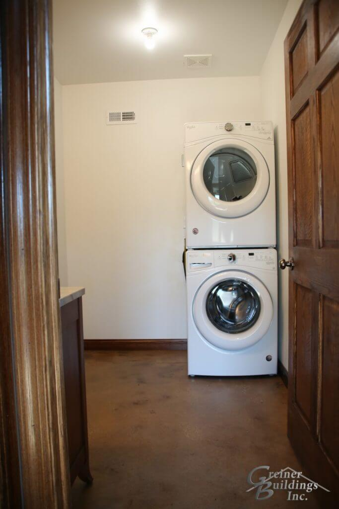 Shop Machine Shed Shome Man Cave Laundry Bath Muscatine, Iowa built by Greiner Buildings