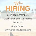 greiner buildings is hiring!