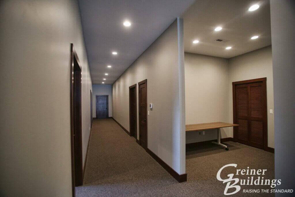 hallway pole building AgriWay 45'x100'x10' Wayland, IA