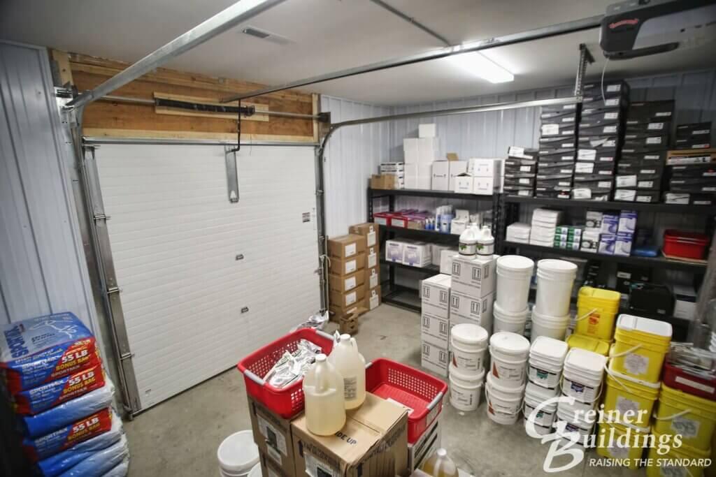 storage pole building AgriWay 45'x100'x10' Wayland, IA