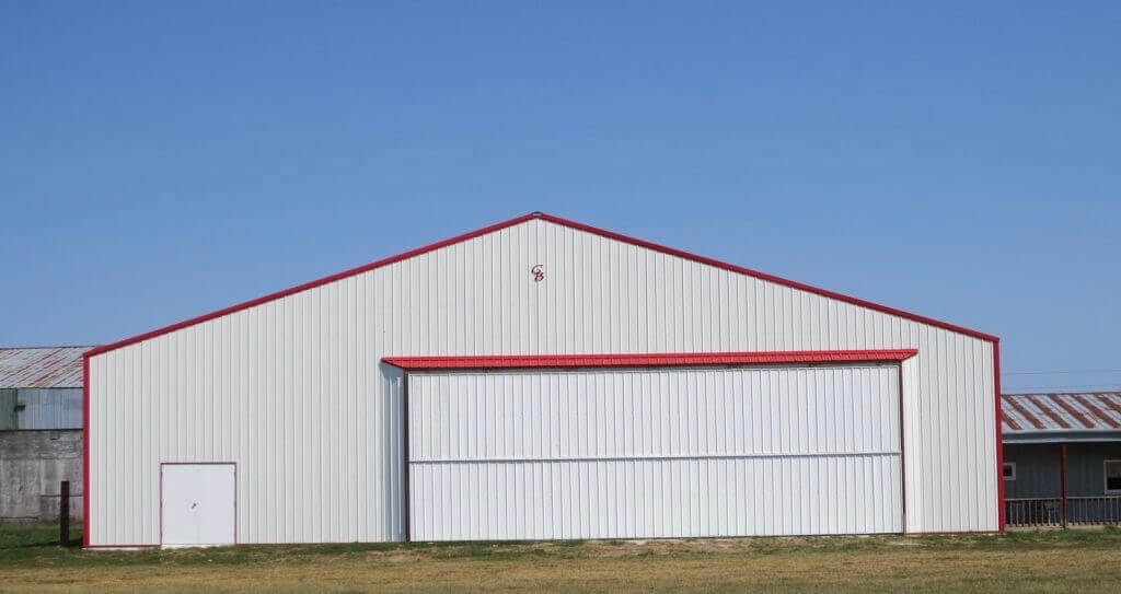 airplane hanger by greiner buildings iowa