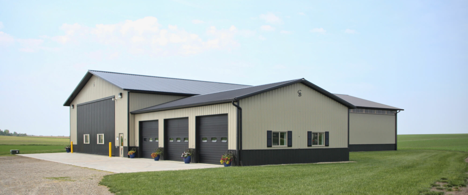 large rural pole building workshop