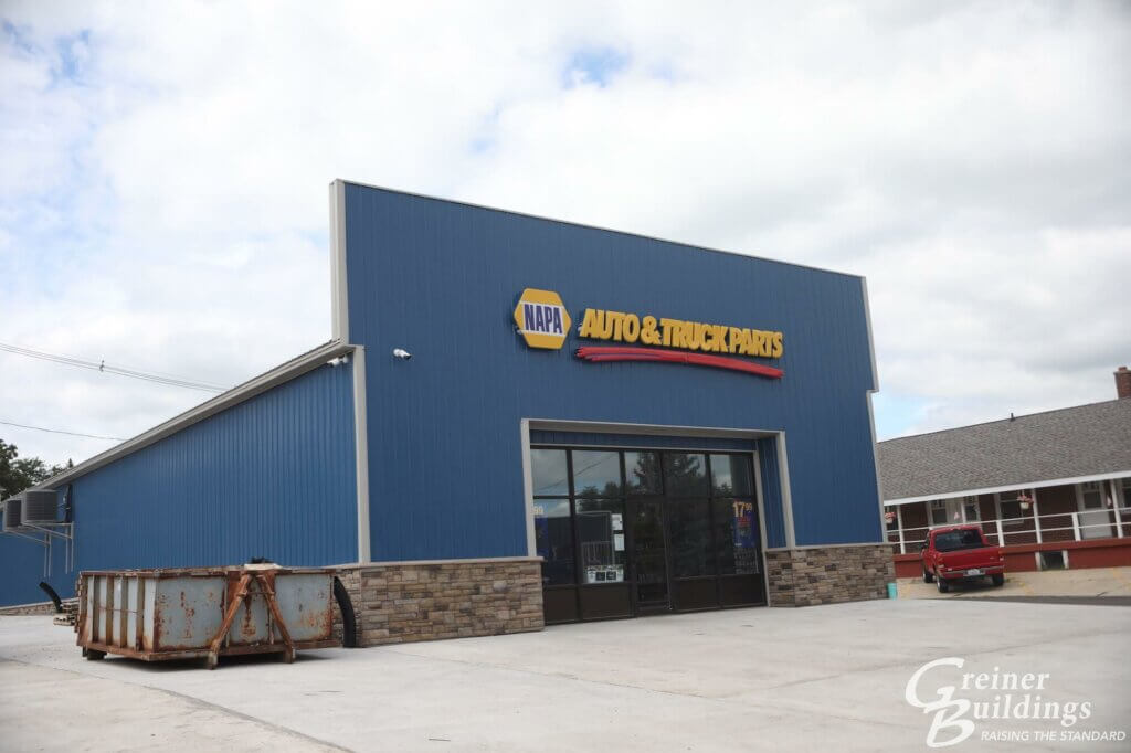 napa auto parts metal pole building