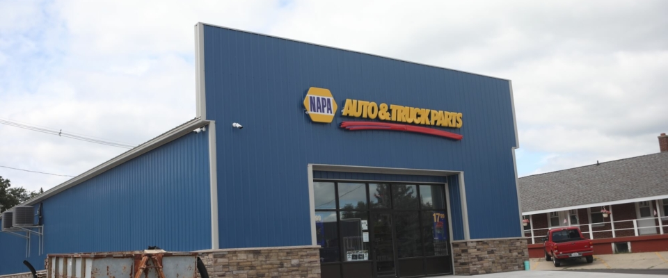 napa auto parts pole building by greiner buildings