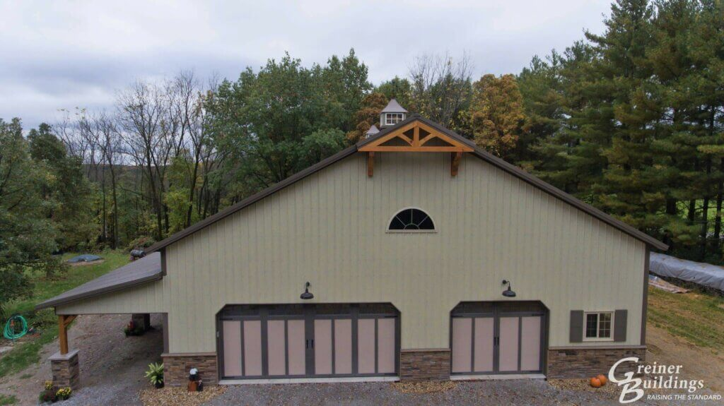 large hobby garage building of year