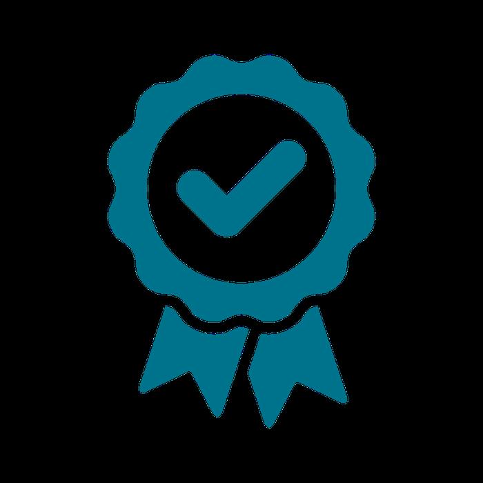 award ribbon flat image blue
