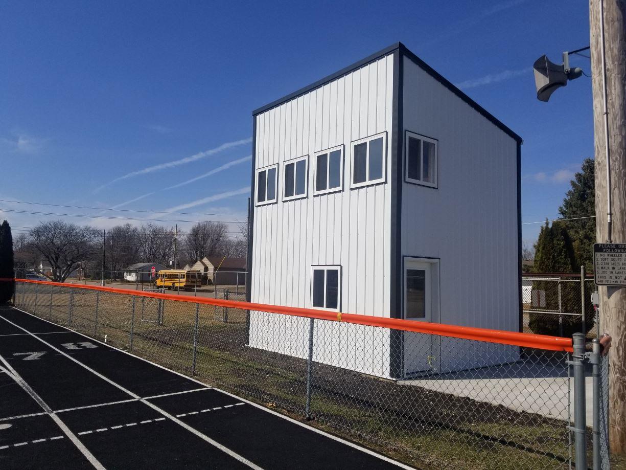 community pole building school press box building