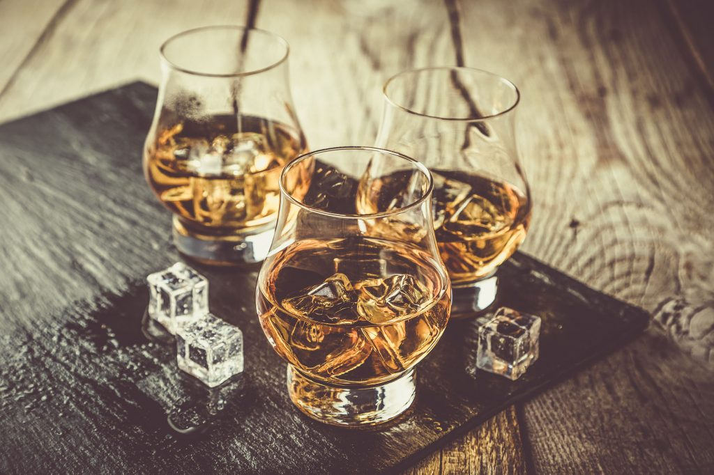 Scotch Whisky with ice