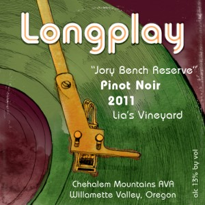2011 Longpaly Jory Bench Reserve Front Label