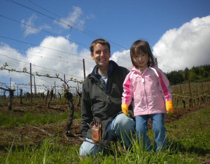 Todd and Lia in the Vineyard