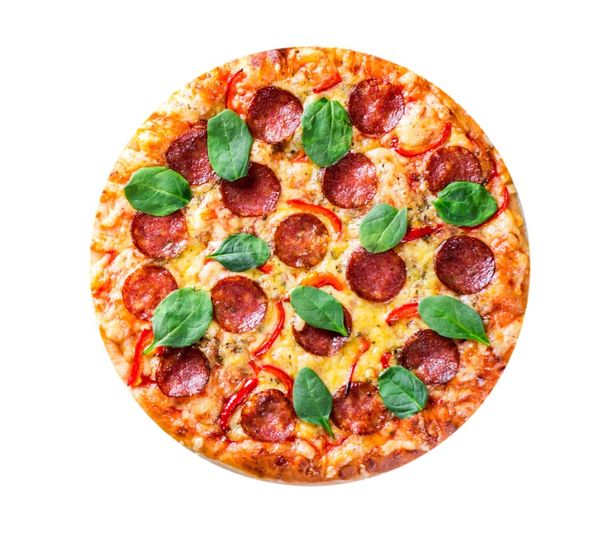 A Lebanese manakeesh pizza.