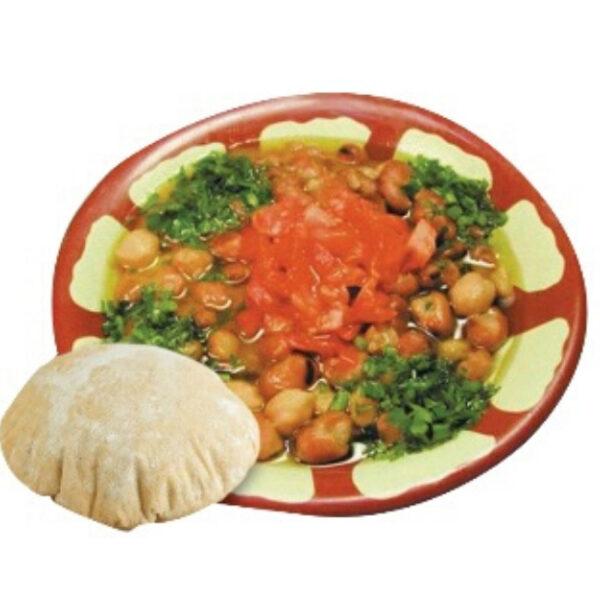 foul fava beans plate