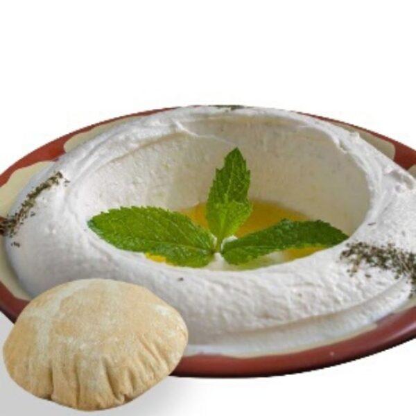 labneh yogurt plate