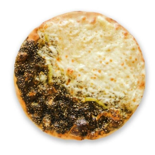 zaatar and cheese manakeesh