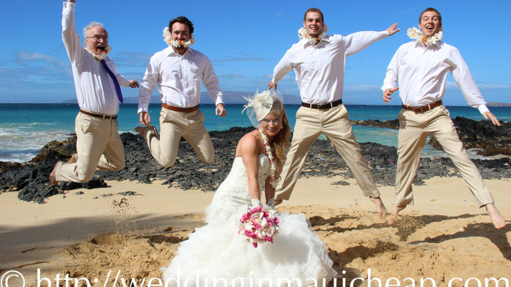 Affordable Barefoot Maui Wedding beach wedding ceremony photo