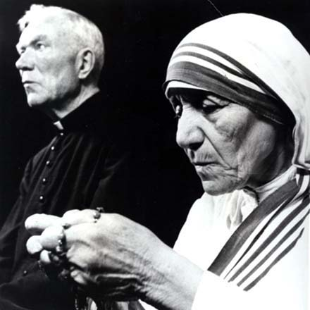 The Rev. Patrick Peyton, C.S.C., and Mother Teresa in 1981.