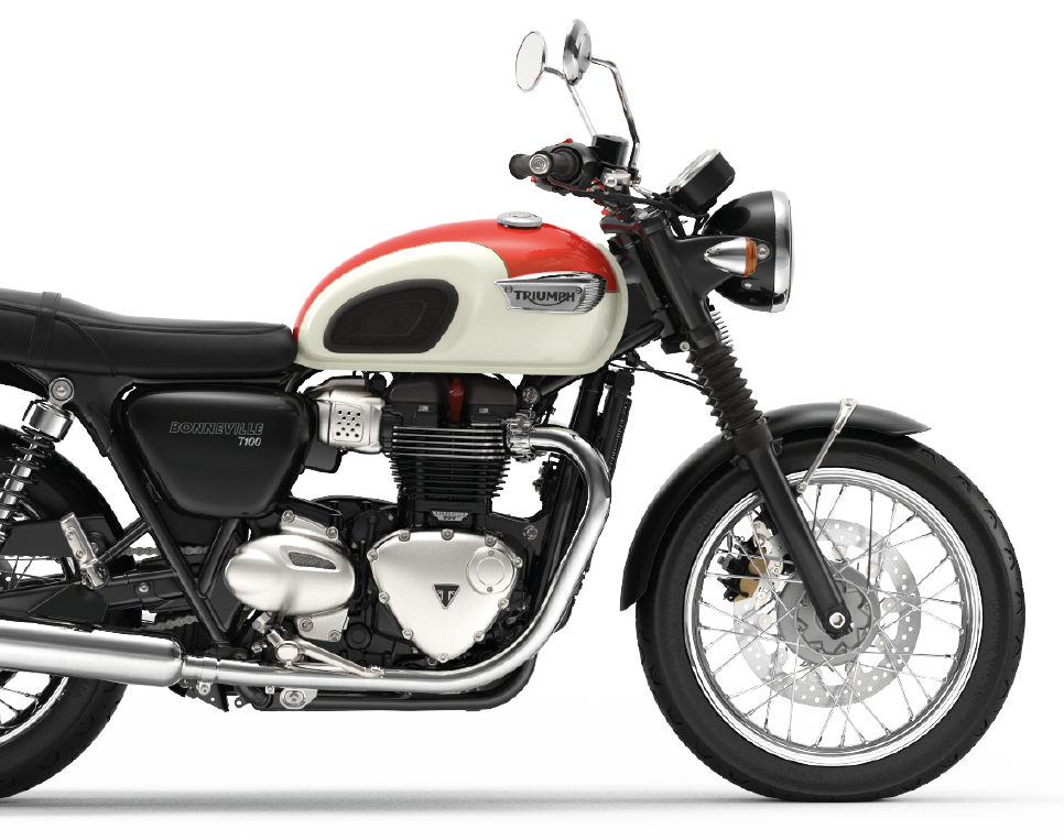 Triumph T100 white and red