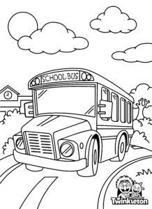 Coloring Page American School Bus