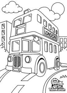 Coloring Page London Double Decker Bus
