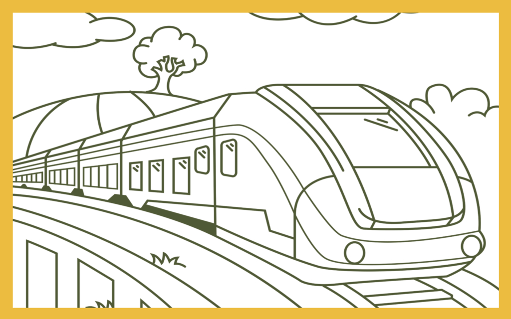 Coloring page bullet train