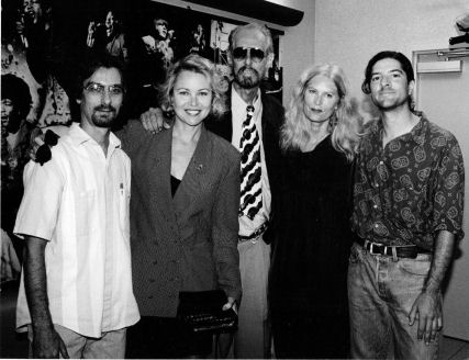 Monterey Pop check presentation to L.A. Free Clinic, October 1992. Photo: Henry Diltz.