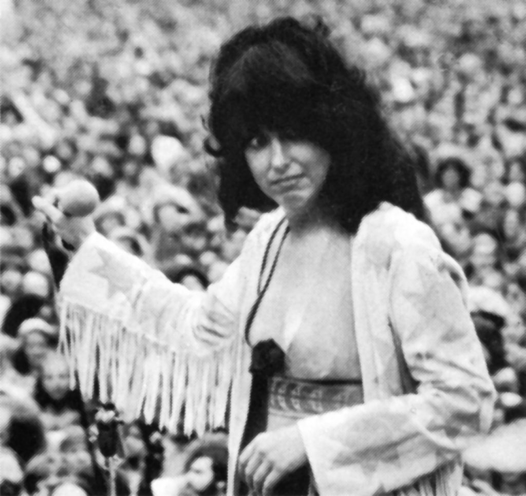 Grace Slick of Jefferson Starship at Lindley Meadows, Golden Gate Park, San Francisco, 1975. Photo: Matthew Cupp.