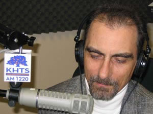 Stephen K. Peeples on the air at KHTS AM 1220 Santa Clarita, California
