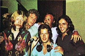 """Pictured during the """"Layla"""" sessions: Duane Allman, Jim Gordon, Eric Clapton, Carl Radle and Bobby Whitlock."""