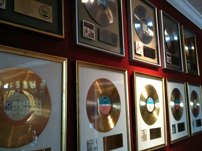 """Ron and Howard Albert -- """"Layla"""" gold album plaques"""