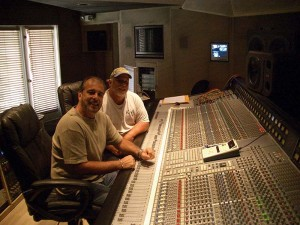 Ron and Howard Albert at the console