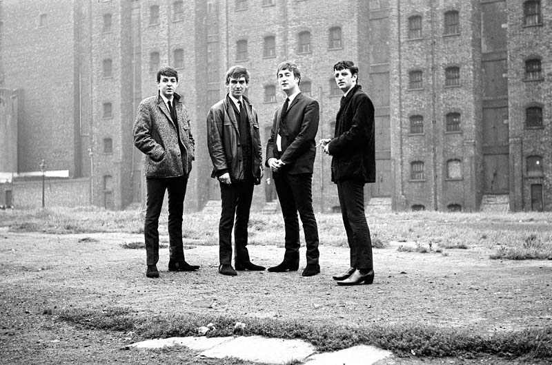 The Beatles in Liverpool, Sept. 28, 1962.