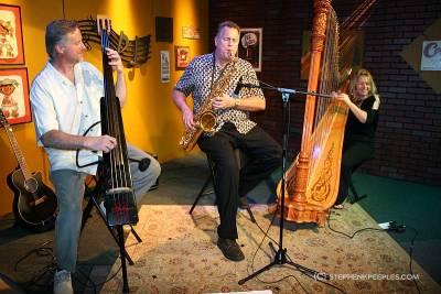 Lori Andrews, backed by Bart Samolis and Jim Honeyman, jam at House Blend