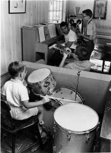 Dave Brubeck and his sons rehearse.