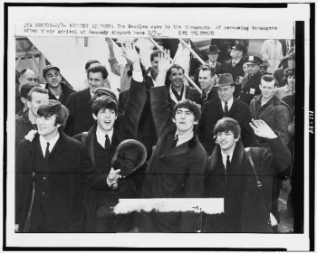 The Beatles' arrival in New York City, Feb. 7, 1964
