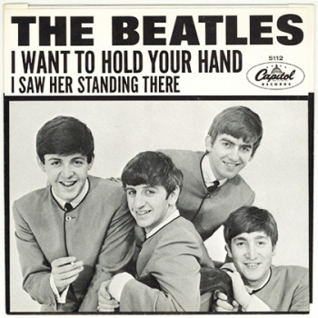 "The Beatles ""I Want To Hold Your Hand"" single cover, 1963"
